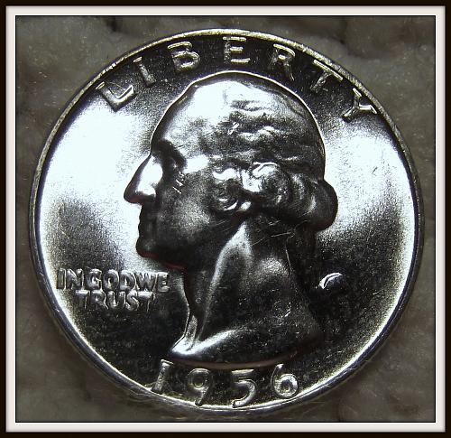 1956 25C Washington Silver Quarter (BU)