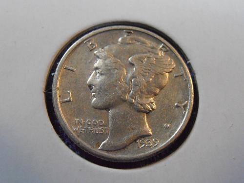 1939 P Mercury Silver Dime (39PLM1)