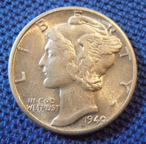 1940 P Mercury Silver Dime (40PLM1)
