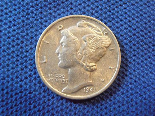 1941 P Mercury Silver Dime (41PLM1)