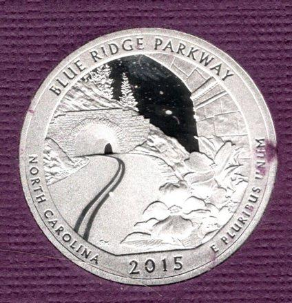 2015 S Blue Ridge Parkway America The Beautiful Quarters: Proof -2