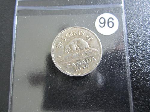 1939 Canadian Nickel Great Shape