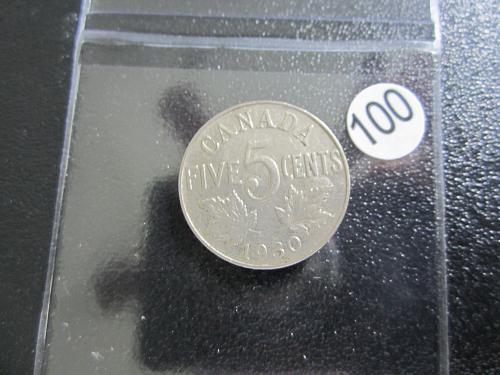 1930 Canadian Nickel Great Shape