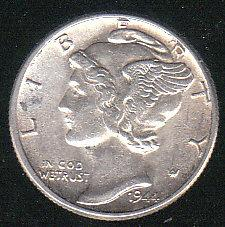 1944 Silver Mercury Dime Very nice coin