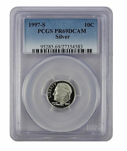 1997-S SILVER Roosevelt Dime PR69DCAM PCGS