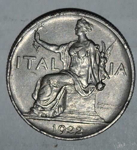 Italy 1 lire 1922