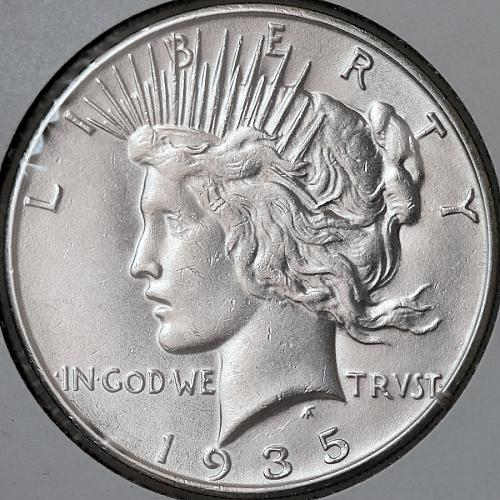 1935 S Peace Silver Dollar - Gem BU / MS / UNC