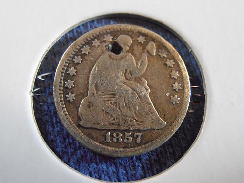 1857 Pre-Civil War Half Dime (57LM1)