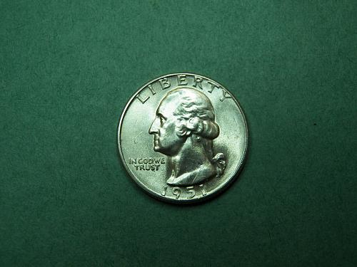 1951 D Washington Quarter Brilliant Uncirculated Coin   w00
