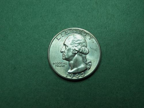 1943 D Washington Quarter Brilliant Uncirculated Coin   w03