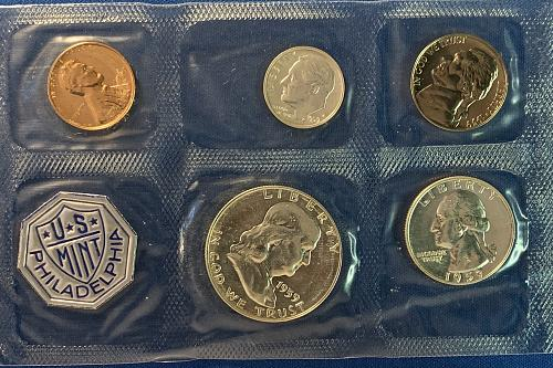 1959 Mint Proof Set Original owner in Cello with opened envelope.
