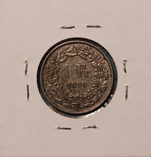 Switzerland 1920B Franc