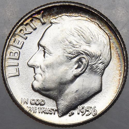 1956 P Roosevelt Dime #14