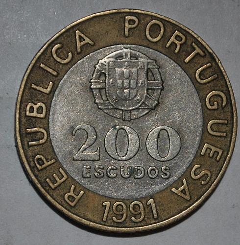 Portugal 200 Escudos 1991