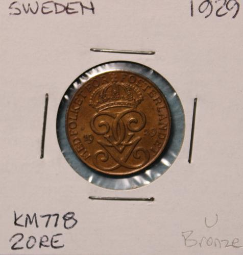 Sweden 1929 2 ore