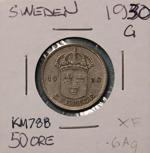 Sweden 1930G 50 ore
