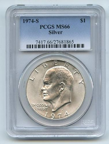 1974-S Silver Eisenhower Dollar Ike MS66 PCGS 66 Mint State