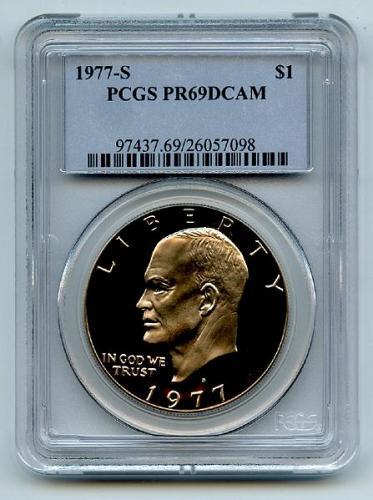 1977 S Eisenhower Ike Dollar $1 PCGS PR69DCAM.