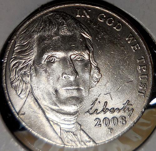 2008-P Jefferson Nickel Error