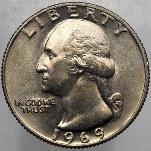 1969 P Washington Quarter#14