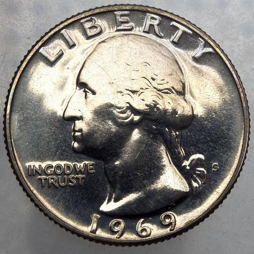 1969 S Washington Quarter#14