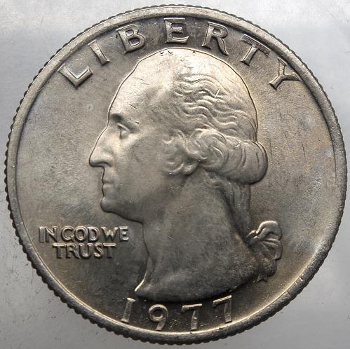 1977 P Washington Quarter#14 Beautifully Toned Reverse!!