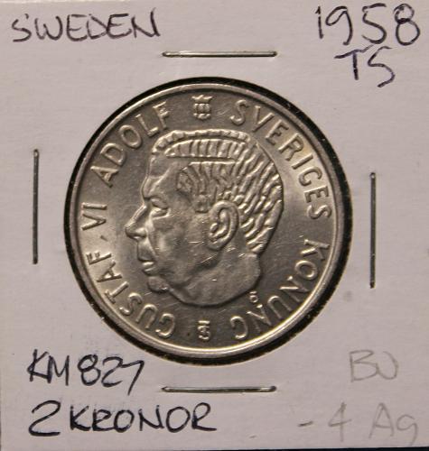 Sweden 1958TS 2 Kronor