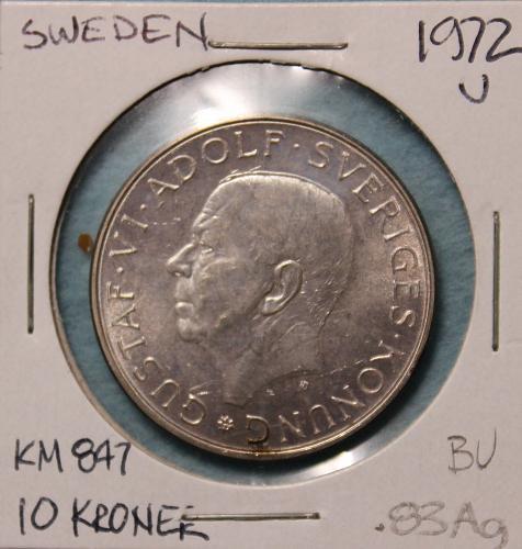 Sweden 1972U 10 Kroner