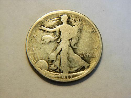 1918-P Walking Liberty Silver Half Dollar