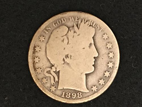 1898 S Barber Half Dollar Better Date Combined Shipping