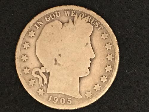 1905 O Barber Half Dollar Better Date FREE SHIPPING!