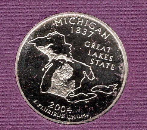 2004 S Michigan 50 States and Territories Quarters - #3