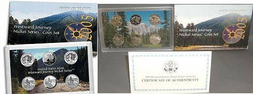 2005 WESTWARD JOURNEY NICKEL MINT SET WITH BOX AND COA