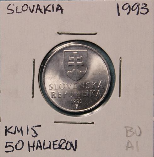 Slovakia 1993 50 halierov