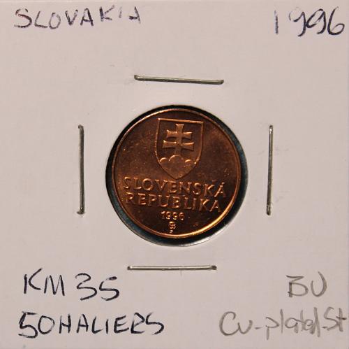 Slovakia 1996 50 haliers