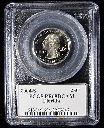 2004-S FLORIDA QUARTER-PCGS PR69 DEEP CAMEO
