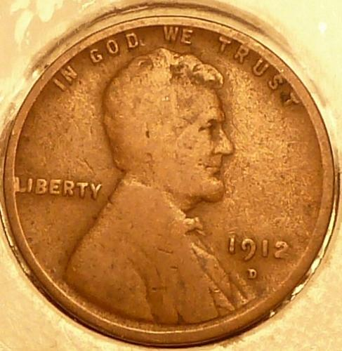 1912-D GOOD  Lincoln Wheat Cent ( A-29)