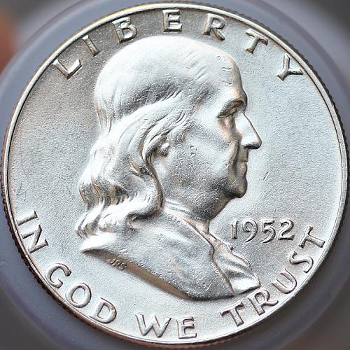 1952 P Franklin Half Dollar - Gem BU / MS / UNC