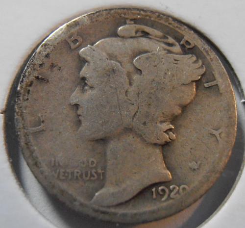 1920 S Mercury Silver Dime (20SAC2)