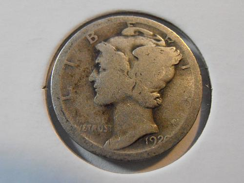 1920 D Mercury Silver Dime (20DAC2)
