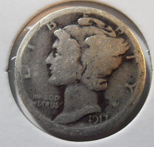 1917 P Mercury Silver Dime (17PAC5)