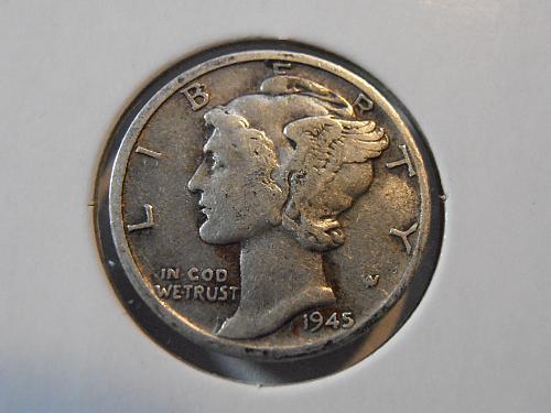 1945 D Mercury Silver Dime (45DAC3)