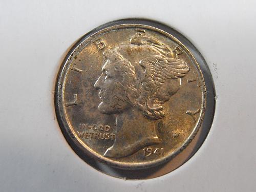 1941 P Mercury Silver Dime (41PAC3)
