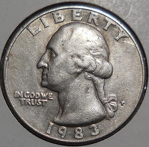 1983-P Washington Quarter Error