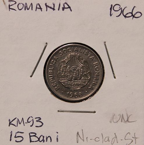 Romania 1966 15 bani