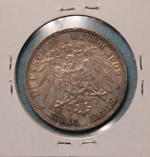 Prussia 1909A 3 Marks