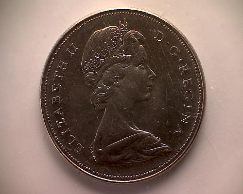 "1968 CANADA ONE DOLLAR QUEEN ELIZABETH 11 ""VOYAGEUR"" MINT CELLO SEALED FROM SET"