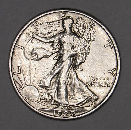 1929-S EF   Walking Liberty Half dollar