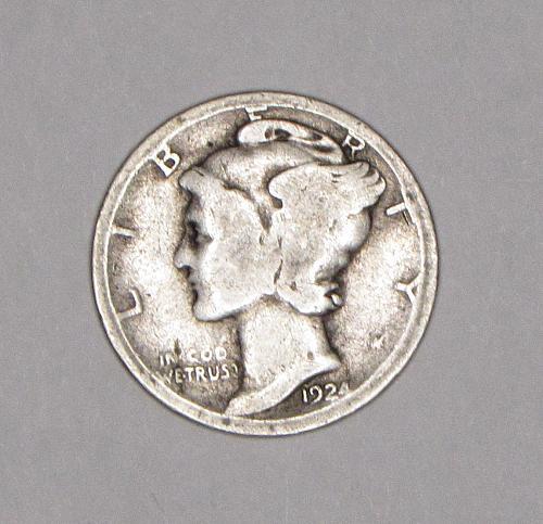 1924P Mercury Dime