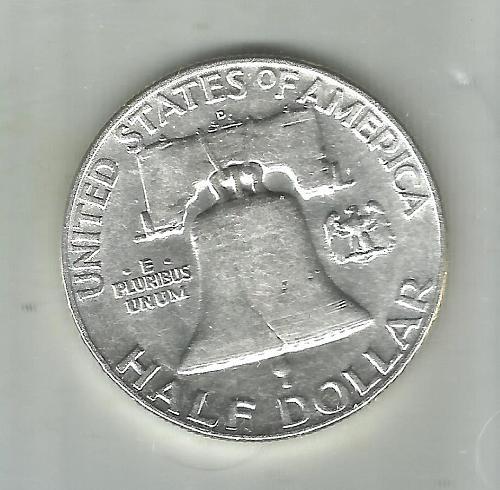 1950   D/D   FRANKLIN HALF DOLLAR